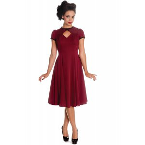 Robe Hell Bunny style mousseline Burgundy - Checkpoint Fanstore - Nîmes