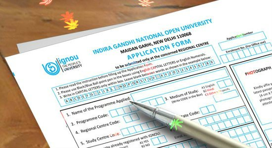 IGNOU Admission Form – 2018 for Various Courses & Programs