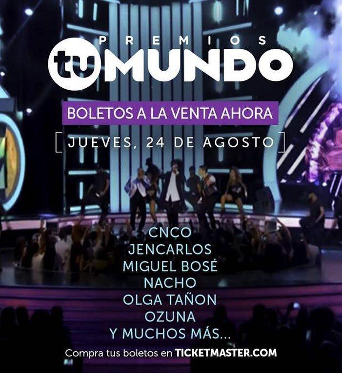 Instagram post by @premiostumundo • Aug 11, 2017 at 10:21pm UTC
