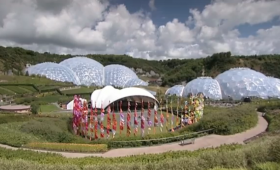 Geothermal power plant, renewable energy - Eden Project, Cornwall