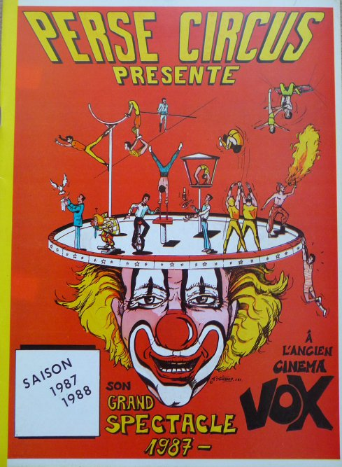 Programme PERSE CIRCUS 1987