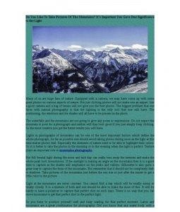 White mountains photography