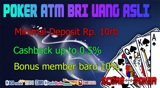 Poker ATM BRI Uang Asli - Pokeronline