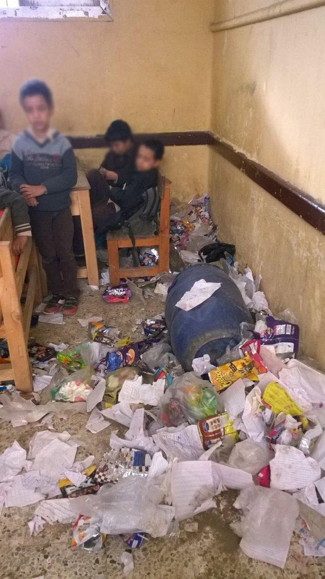 A classroom in  Egyptian  school  l in Al-Marg district, Cairo, Egypt - فصل دراسي في مدرسة بمنطقة  المرج بالقاهرة في مصر -  -  salle de classe dans l'école égyptienne l dans le district d'Al-Marg, Le Caire, en Égypte