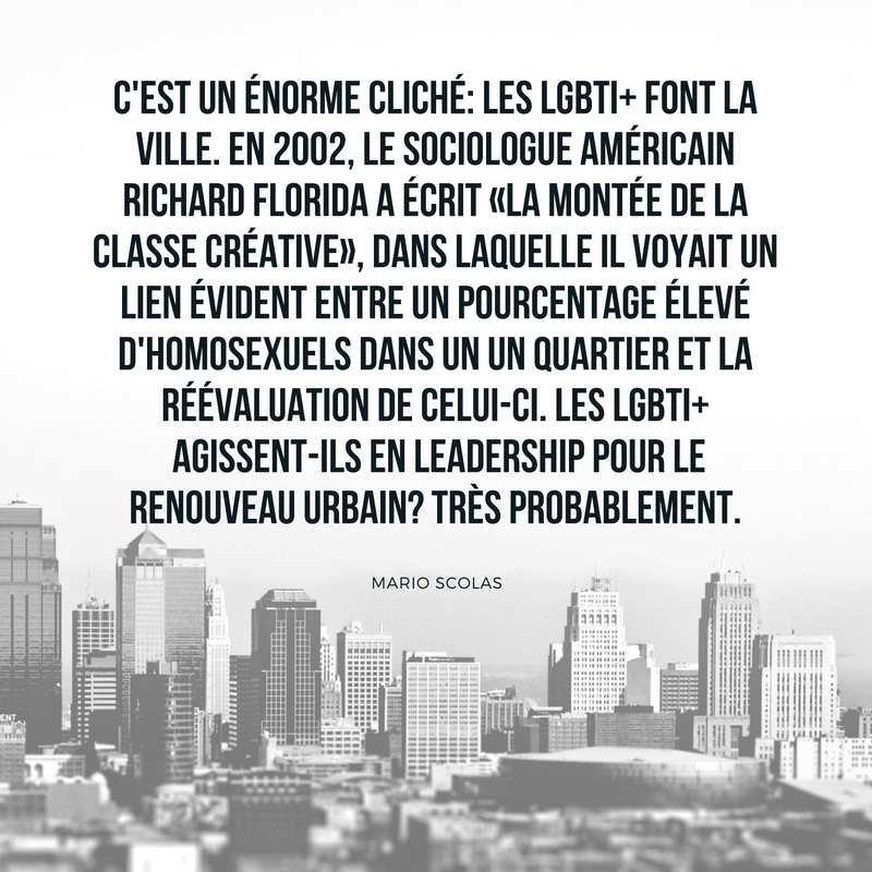 C'est un énorme cliché: les LGBTI+ font la ville.
