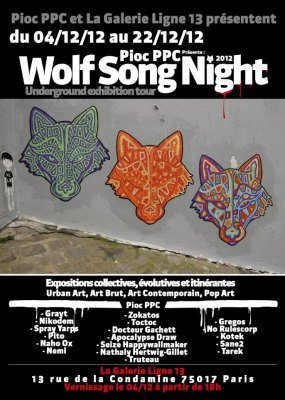 Wolf Song Night à la galerie Ligne 13 // Paris