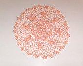 napperon dégrader orange en coton crochet femme décoratif moderne table d'intérieur fait main cadeau femme : Accessoires de maison par les-mille-merveilles-isa