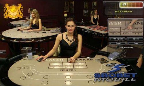 Live Dealer Topless Baccarat Super Six Online SBOBET VIP