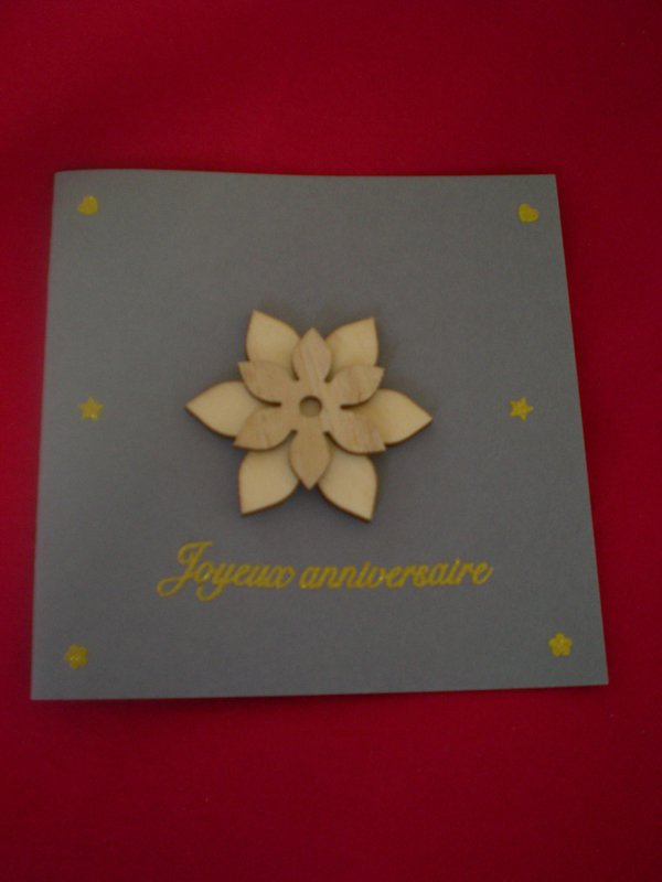 Carte Anniversaire - Les Brodeuses Généreuses