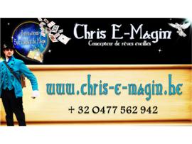 Chris E-Magin, Artiste Magicien Professionnel - Acteur Fête Belgique