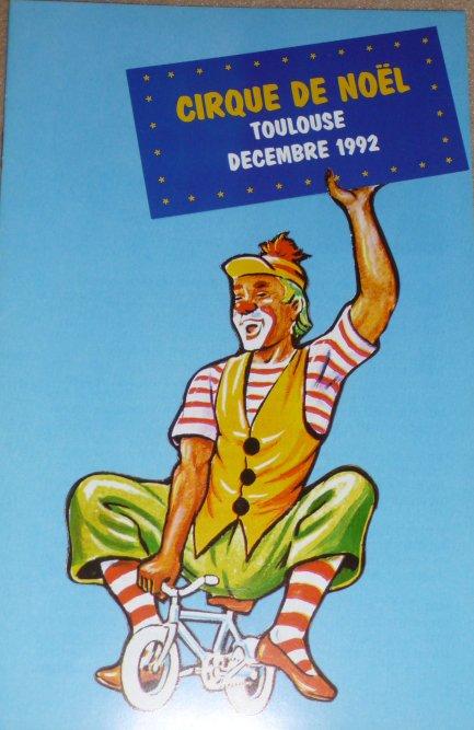 A vendre / On sale / Zu verkaufen / En venta / для продажи :  Programme Cirque de Noël de Toulouse 1992