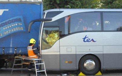 Bus contre 38 tonnes