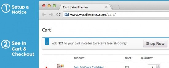 WooCommerce Cart Notices 1.6.1 Extension