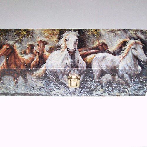Boîte à bijoux chevaux