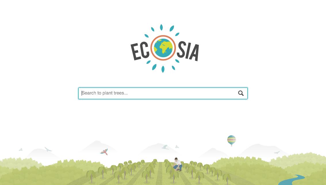 Ecosia, un moteur de recherche à tendance écologique