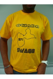 "T-shirt jaune/noire ""GWADA Swagg"" Collector (edition limitée) - lOOked MIAMI"