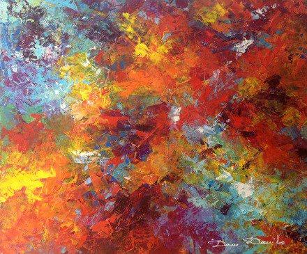 Peinture abstraite - Abstract art - abstract painting - oil painting - peinture à l'huile - peinture moderne- Dam-Domido