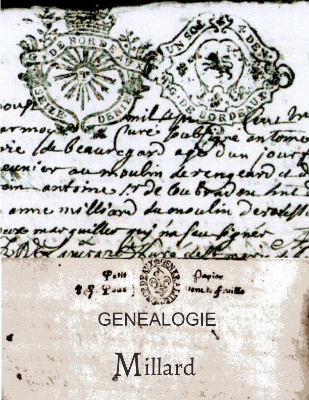 Généalogie de Marie-Jeanne Millard