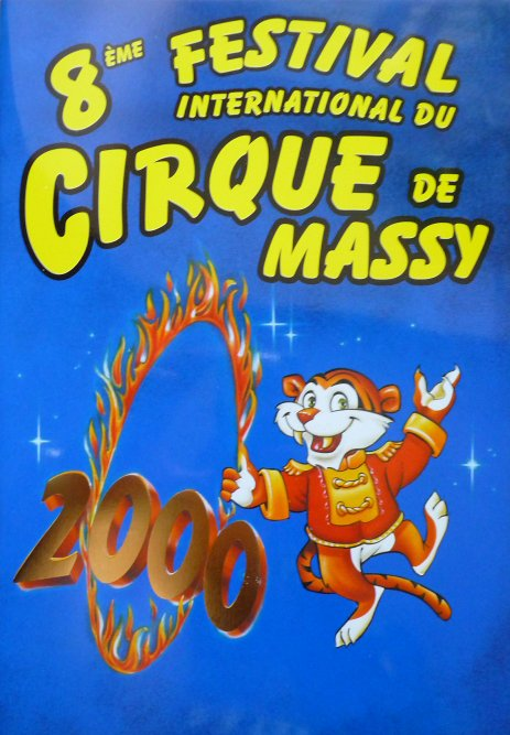 Programme 8ème Festival International du Cirque de Massy 2000
