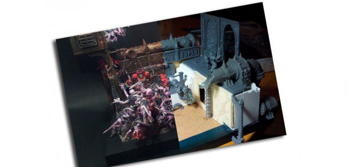 Conception du diorama Blood Angels trapped - Gangeek Style