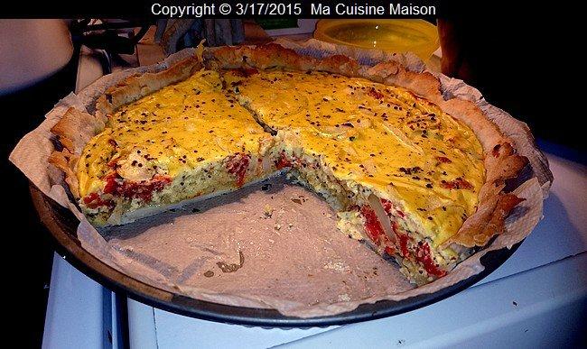TARTE AUX TOMATES ET A LA MOUTARDE (recette maison) - Ma Cuisine Maison