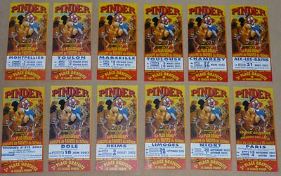 Lot 12 flyers Cirque PINDER 2003 - Circus, leaflets