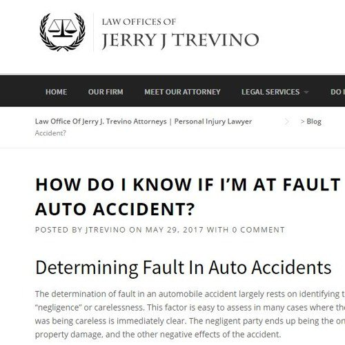 HOW DO I KNOW IF I'M AT FAULT FOR MY AUTO ACCIDENT?