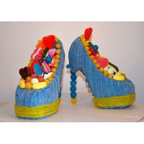 chaussure de femme en bonbon
