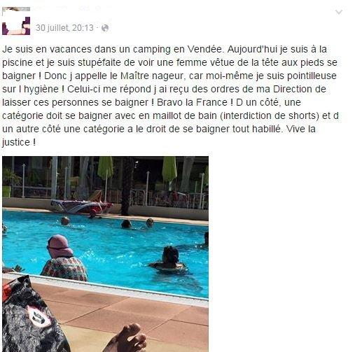 Elle se baigne tout habillée,voile compris, à la piscine, et il faudrait fermer les yeux ! | Résistance Républicaine