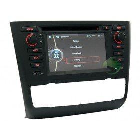 Auto DVD Player GPS Navigationssystem für BMW E82 1 Series(2004 2005 2006 2007 2008 2009 2010 2011 2012)Coupe(automatische Klimaanlage + beiheizbarer Sitz)