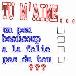 TU M'AIME ooo - Blog de DalilaBleue1986
