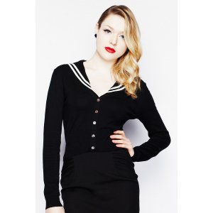 Cardigan navy pin up marin - Checkpoint Fanstore - Nîmes