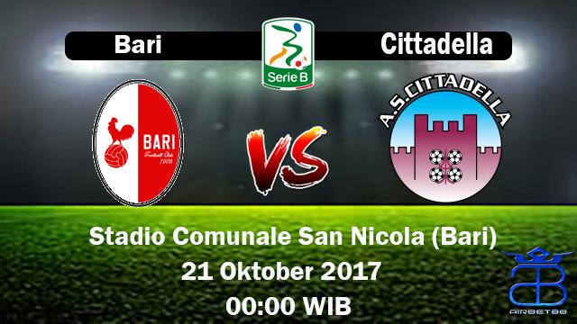 Prediksi Bari VS Citadella 21 Oktober 2017 | Prediksiskorbolajitu |