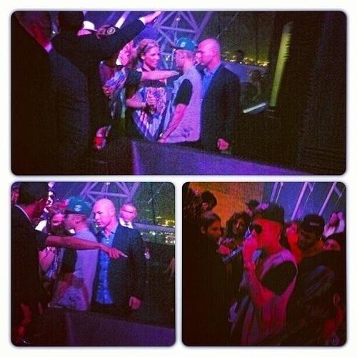 Justin dans un club à Dubaï hier soir