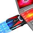 KLIM Cool Refroidisseur PC Portable Gamer - Ventilateur Haute Performance Pour Refroidissement Rapide - Extracteur d'Air Chaud USB (Rouge): Amazon.fr: Informatique