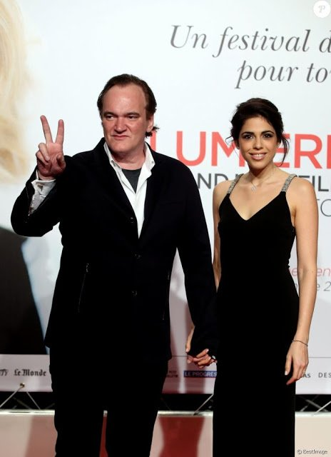STAR PEOPLE CROWN: QUENTIN TARANTINO OPEN THE 8 th FESTIVAL LUMIERE FILM FESTIVAL IN FRANCE WITH GIRL FRIEND DANIELA PIK