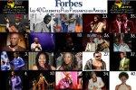 """Les 40 Celebrites Plus Puissantes en Afrique selon""""Forbes"""""""