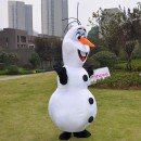 Frozen Olaf Snowman Mascot Costume for Adult Frozen Olaf Snowman Mascot Fancy Dress Costume
