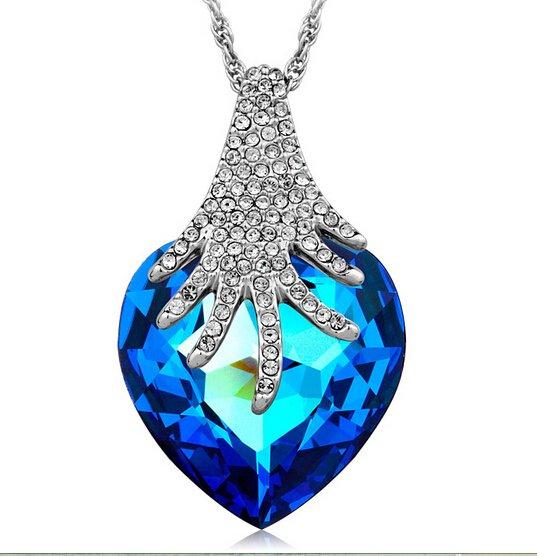 Belle bijoux bleu cristal swarovski sterling silver 925 - Presentoir a bijoux pas cher ...