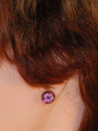 Boucle d'oreille donut en fimo : Boucles d'oreille par jl-bijoux-creation