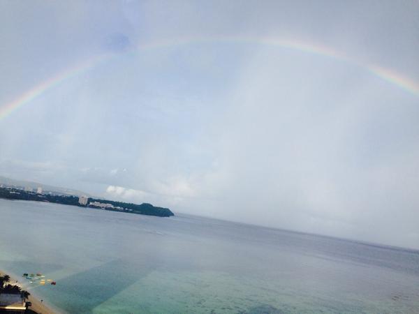 大島優子 sur Twitter : Rainbow!!雨上がりはキレイだー http://t.co/q5hQaklP6j