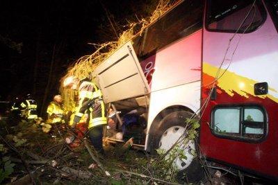 SERAINCOURT / Sortie de route Un accident de bus fait onze blessés