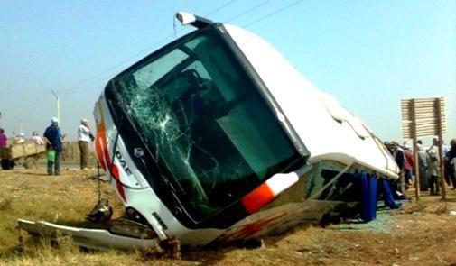 12-07-2014 - Maroc - Meknès - 3 morts et 12 blessés dans le renvers...