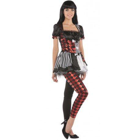 Déguisement arlequin femme : Déguisements arlequin blanc noir rouge
