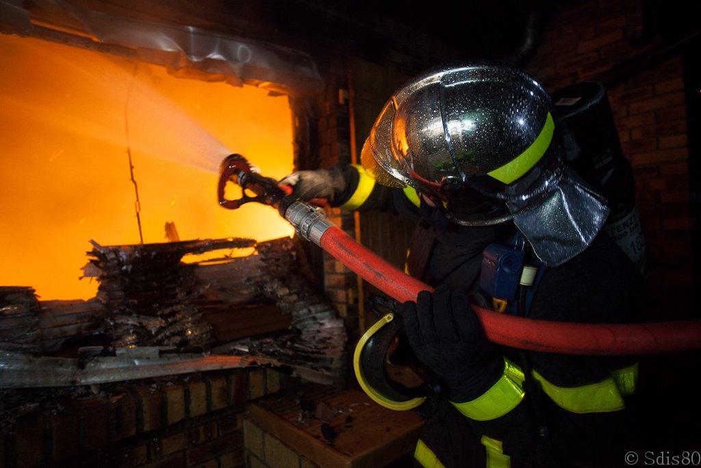 Incendie d'une maison dans la SOMME