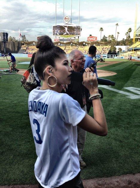 Zendaya Sings National Anthem at the Dodgers Game | Zendaya Official Website.