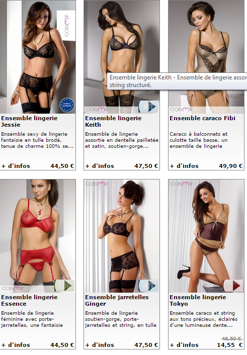 SEXYSHOPPING LINGERIES COQUINES et EROTIQUES - THE BIG BAZAR.THE BEST SHOPPING ON LINE