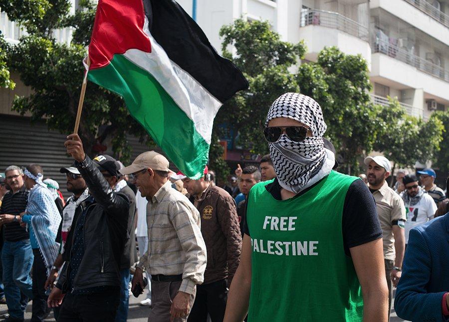 Manifestation antisémite à Casablanca - Plusieurs centaines de manifestants se sont rassemblés.