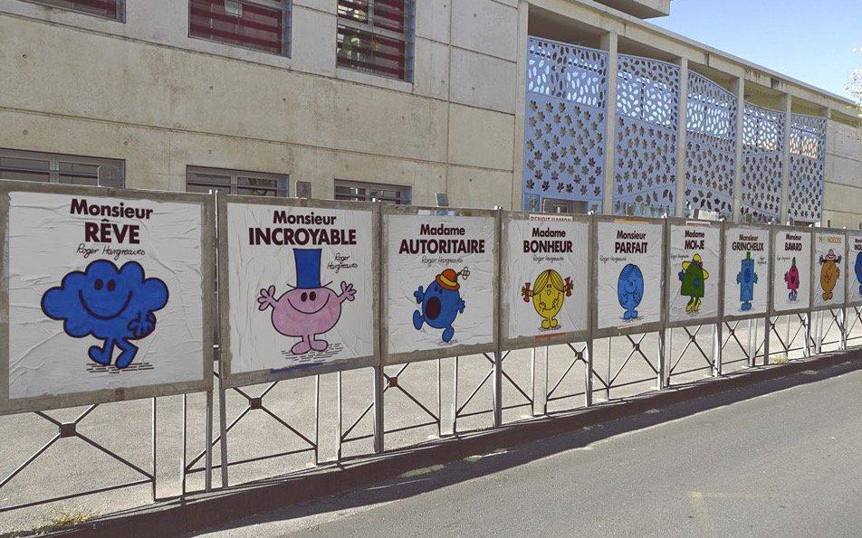 """Des """"Monsieur, Madame"""" remplacent les affiches des candidats à la Présidentielle à Montpellier"""