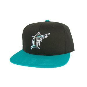 Casquette Neuve Ajustable Officielle MLB - FLORIDA MARLINS Snapback - Noire/Turquoise: Amazon.fr: Sports et Loisirs